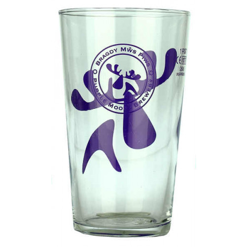 Purple Moose Glass (Pint)