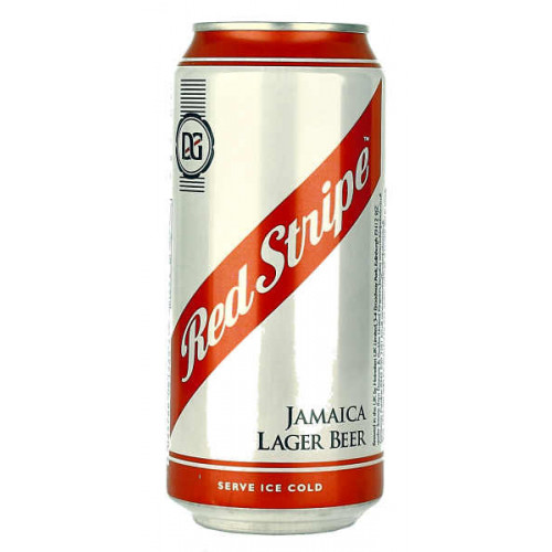 Red Stripe Can