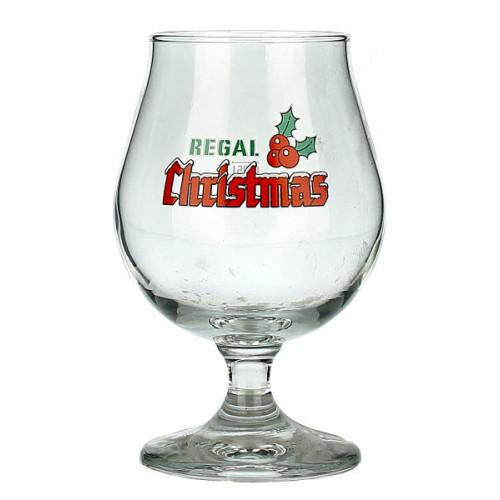 Regal Christmas Tulip Glass