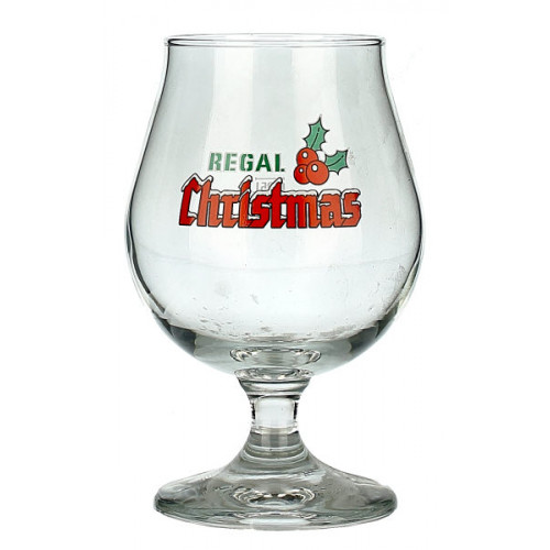 Regal Christmas Tulip Glass