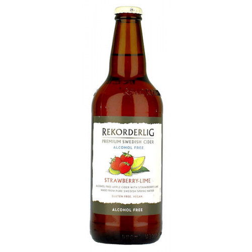 Rekorderlig Strawberry And Lime Alcohol Free Cider 500ml