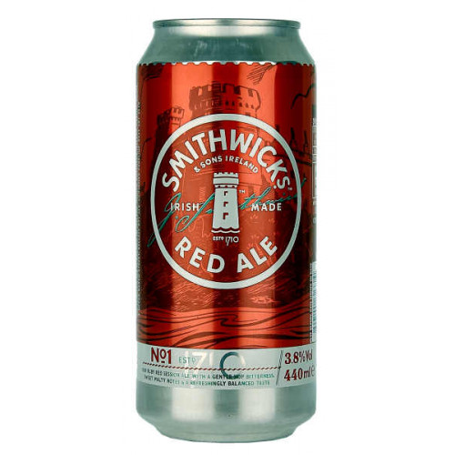Smithwicks Draught Superior Irish Red Ale Can