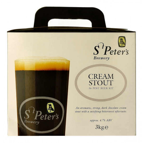 St Peters Cream Stout Home Brew Kit