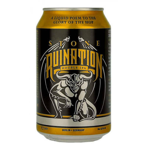 Stone (Berlin) Ruination Double IPA Can (B/B Date 30/08/19)