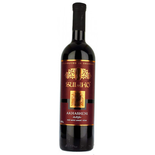 Suliko Akhasheni Red Semi Sweet Wine