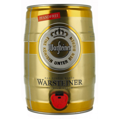 Warsteiner 5 Litre Can/mini keg