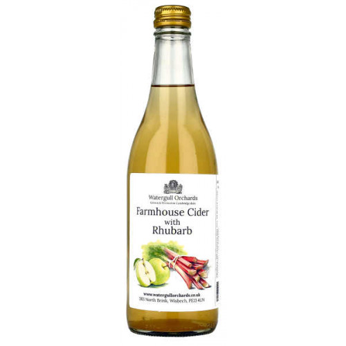 Watergull Orchards Farmhouse Cider with Rhubarb