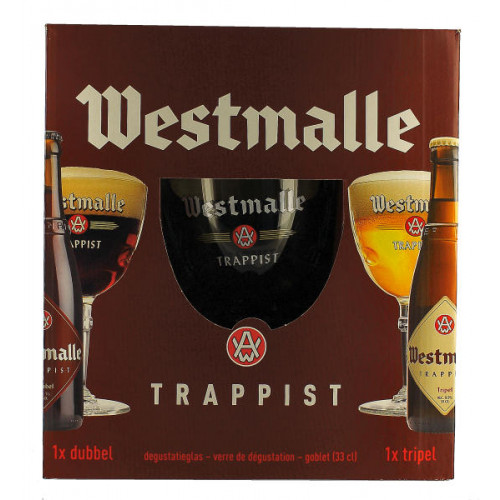 Westmalle Gift Pack (2x33cl + 1 Glass)