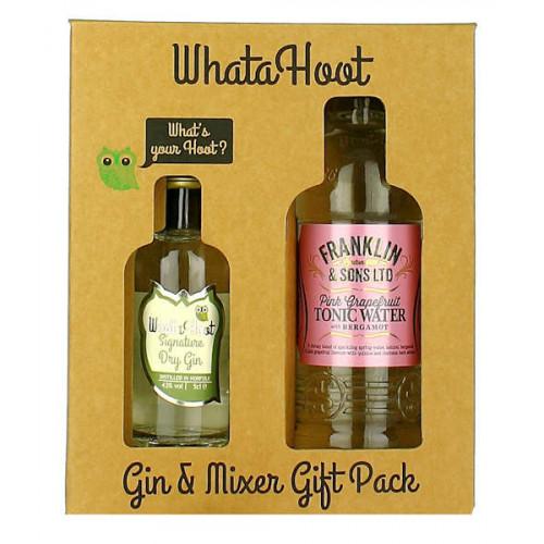 WhataHoot Signature Dry Gin and Mixer Gift Pack