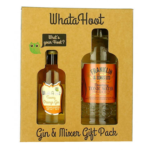 WhataHoot Tawny Orange Gin and Mixer Gift Pack