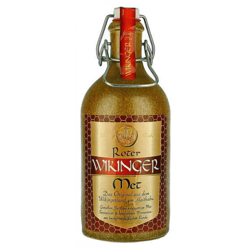 Wikinger Roter Mead with Cherry Juice in Stone Bottle
