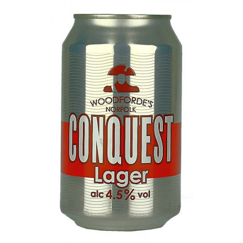 Woodfordes Conquest Lager Can