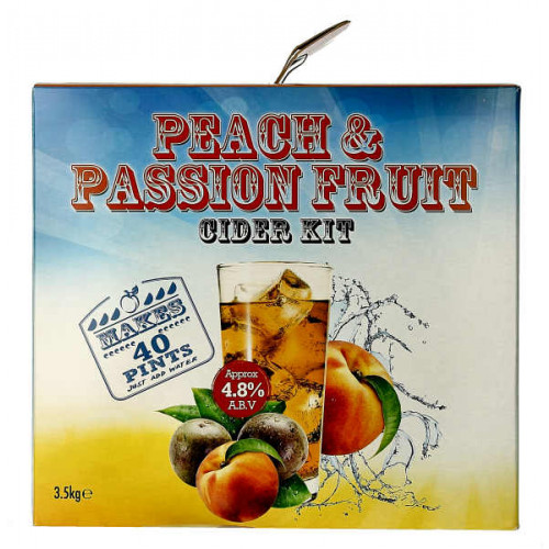 Youngs Peach and Passion Fruit Cider Home Brew Kit