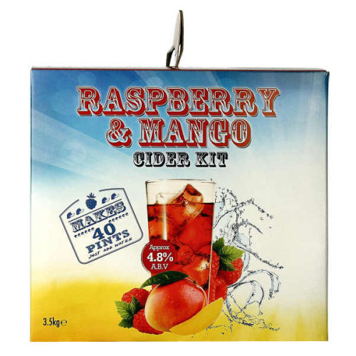 Youngs Raspberry and Mango Cider Home Brew Kit