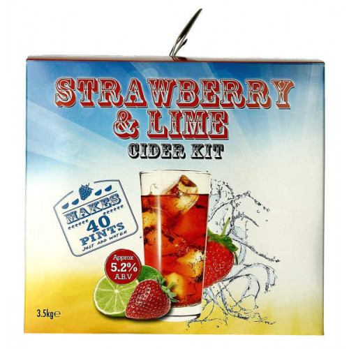 Youngs Strawberry and Lime Cider Home Brew Kit