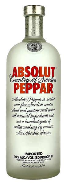Absolut Peppar Vodka 1 Litre
